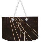 Morning Train Weekender Tote Bag