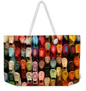 Moroccan Babouches Old Medina Marrakesh Morocco Weekender Tote Bag
