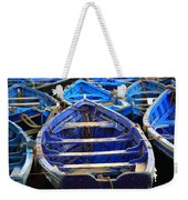 Moroccan Blue Fishing Boats Weekender Tote Bag