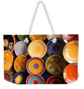Moroccan Pottery On Display For Sale Weekender Tote Bag by Ralph A  Ledergerber-Photography
