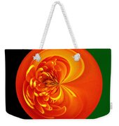 Morphed Art Globe 19 Weekender Tote Bag by Rhonda Barrett