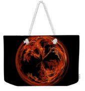 Morphed Art Globe 37 Weekender Tote Bag by Rhonda Barrett
