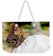 Morphos Butterfly On White Baseball Cap Art Prints Weekender Tote Bag