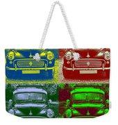 Morris Car In Pop Art Weekender Tote Bag