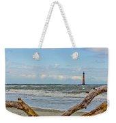 Morris Island Light With Driftwood Weekender Tote Bag