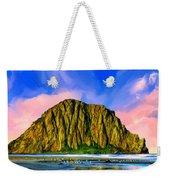 Morro Rock Sunset Weekender Tote Bag