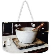 Mortar And Pestle In Apothecary Weekender Tote Bag