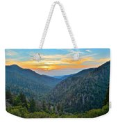 Mortons Overlook Smoky Mountain Sunset Weekender Tote Bag