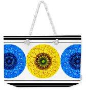 Mosaic Blue Circles With Yellow Weekender Tote Bag