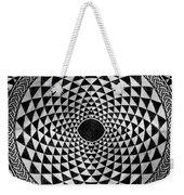 Mosaic Circle Symmetric Black And White Weekender Tote Bag
