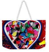 Mosaic Heart Weekender Tote Bag