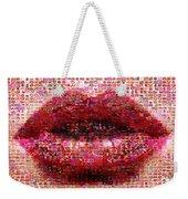 Mosaic Lips Weekender Tote Bag