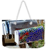 Mosaic Mailbox On The Turquoise Trail In New Mexico Weekender Tote Bag