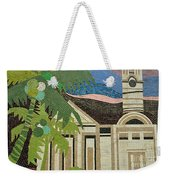 Mosaic Of Church With Palm Tree Weekender Tote Bag