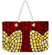 Mosaic Red Cross Weekender Tote Bag by Cynthia Amaral