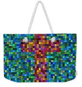 Mosaic Tile Cross Weekender Tote Bag