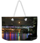 Moscow At Night In Winter Weekender Tote Bag
