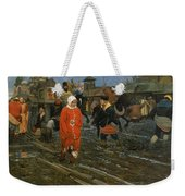 Moscow Street On A Public Holiday Weekender Tote Bag