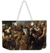Moses And The Water From The Stone Weekender Tote Bag