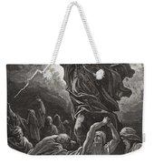 Moses Breaking The Tablets Of The Law Weekender Tote Bag by Gustave Dore