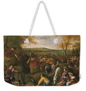 Moses Striking The Rock Weekender Tote Bag