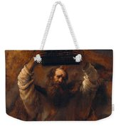 Moses With The Ten Commandments Weekender Tote Bag