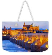 Mosque-cathedral And The Roman Bridge In Cordoba Weekender Tote Bag