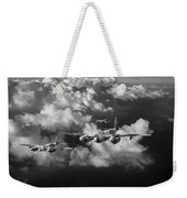 Mosquitos Above Clouds Black And White Version Weekender Tote Bag