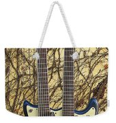 Mosrite Joe Maphis Double-neck Guitar  Weekender Tote Bag