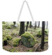 Moss-covered Boulder Weekender Tote Bag
