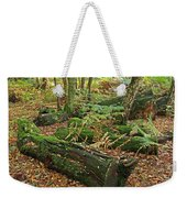 Moss Covered Logs On The Forest Floor Weekender Tote Bag