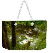 Moss Covered Trees Foregound Eagle Creek Weekender Tote Bag