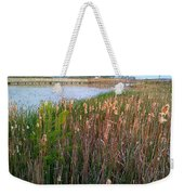 Moss Landing Washington North Carolina Weekender Tote Bag by Joan Meyland