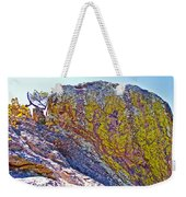 Moss On Giant Rocks Along Echo Canyon Trail In Chiricahua National Monument-arizona  Weekender Tote Bag