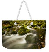 Mossy Rocks Along Lavis Brook In The Weekender Tote Bag
