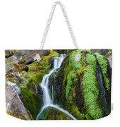 Mossy Waterfall At Snow Lake Weekender Tote Bag