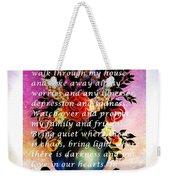 Most Powerful Prayer With Flowers In A Vase Weekender Tote Bag