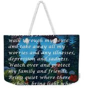 Most Powerful Prayer With Goose Flying And Autumn Scene Weekender Tote Bag