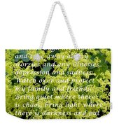 Most Powerful Prayer With Ladies Mantle Weekender Tote Bag
