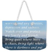 Most Powerful Prayer With Ocean View Weekender Tote Bag