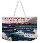Most Powerful Prayer With Ocean Waves Weekender Tote Bag
