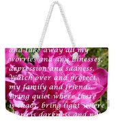 Most Powerful Prayer With Peony Bush Weekender Tote Bag