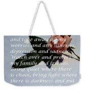 Most Powerful Prayer With Rosebud Weekender Tote Bag