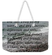 Most Powerful Prayer With Seascape Weekender Tote Bag