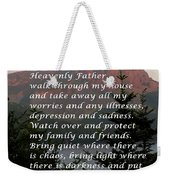 Most Powerful Prayer With Sunset And Moon Weekender Tote Bag