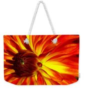 Mostly Orange Dahlia Flower Weekender Tote Bag