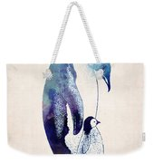 Mother And Baby Penguin Weekender Tote Bag