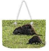 Mother And Child - Coypu - Nutria Weekender Tote Bag