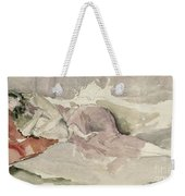 Mother And Child On A Couch Weekender Tote Bag by James Abbott McNeill Whistler