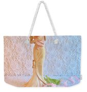 Mother And Child With Pink Tulips Weekender Tote Bag